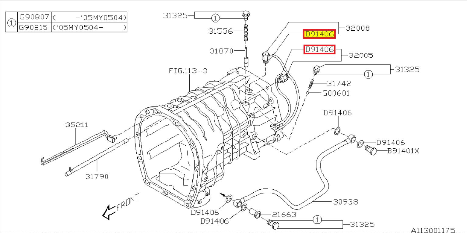 Genuine Subaru Joint CP Gear Shift 35046AG000