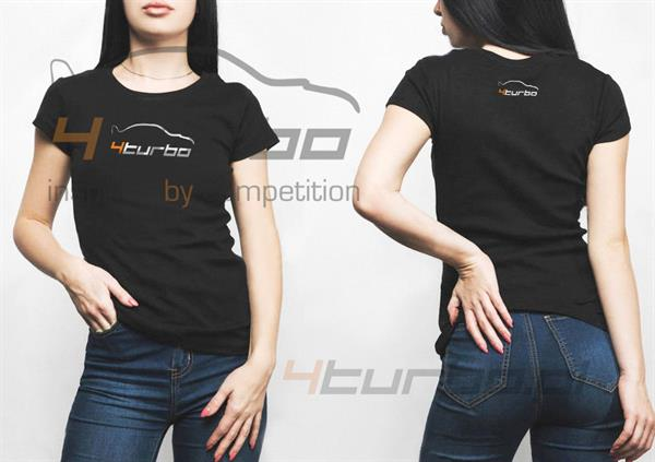 T-shirt women 4turbo black S - TBC/TW04T/002/3