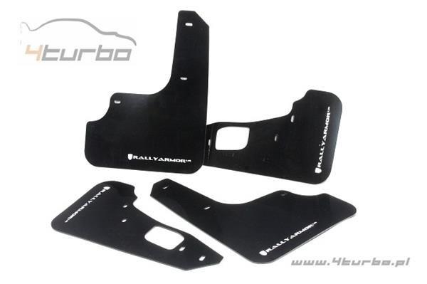 Mud flaps Rally Armor EVO 10 UR black, white logo - MF10-UR-BLK/WH