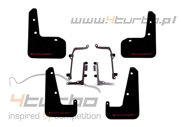 Mud flaps Rally Armor UR Impreza STI & WRX 2011-2014, sedan, black, red logo - MF19-UR-BLK/RD