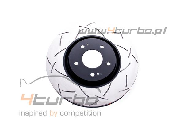 DBA disc brake, 4000 series T3, front, slotted, 326mm, Impreza STI 2001-2014, WRX STI 2014-2017 (multi PCD) - DBA 4654S-10