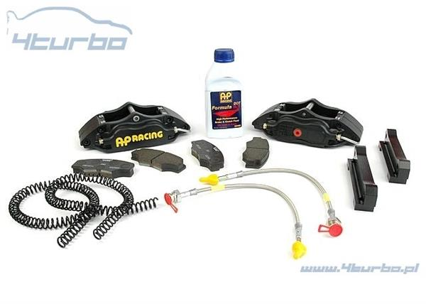 AP Racing brake kit EVO 7/8/9, rear, 4 piston, black calipers - CP5108-1003