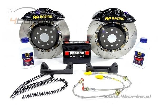AP Racing brake kit Impreza GC8 1994-2001, front, 6 piston, Ø330 x 28mm, black calipers - CP5570-1000.G8