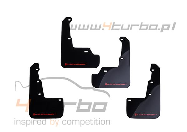 Mud flaps Rally Armor UR WRX STI 2014+ sedan, black, red logo - MF32-UR-BLK/RD