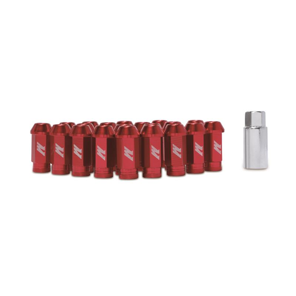 Mishimoto Aluminum Locking Lug Nuts, M12 x 1.5, Red, EVO 5/6/7/8/9/10, MMLG-15-LOCKRD