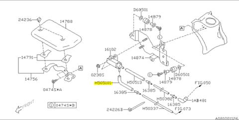 hose, turbo solenoid valve subaru 2 0 dohc ej205 - 807505101, others -  4turbo
